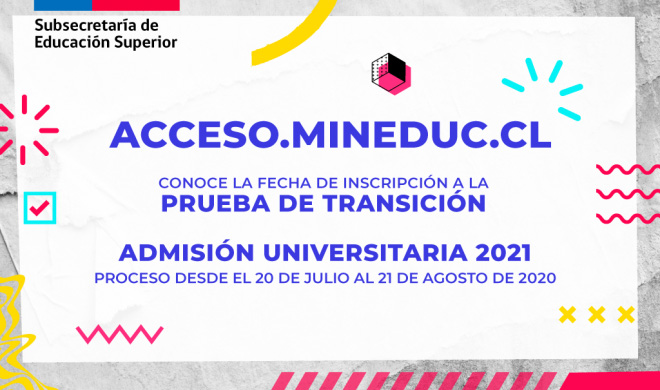 COMIENZA INSCRIPCIÓN PARA LA PRUEBA DE TRANSICIÓN CON MIRAS A ADMISIÓN UNIVERSITARIA 2021