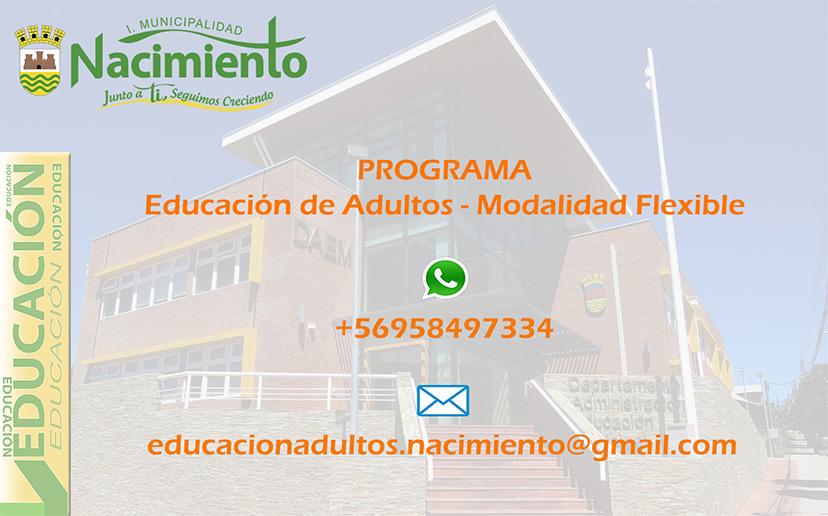 """ABIERTAS INSCRIPCIONES DEL PROGRAMA """"EDUCACIÓN DE ADULTOS – MODALIDAD FLEXIBLE"""": HASTA EL 30 DE MAYO"""