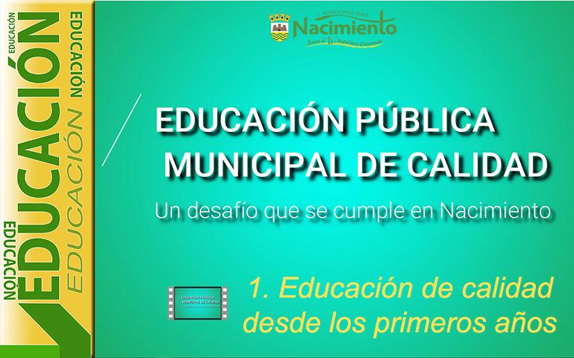 """DISPONIBLE PRIMER CAPÍTULO DE SERIE AUDIOVISUAL """"POR UNA EDUCACIÓN PÚBLICA MUNICIPAL DE CALIDAD"""""""