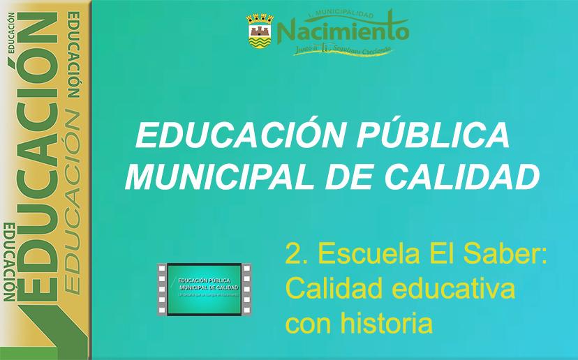 """PUBLICADO SEGUNDO CAPÍTULO DE SERIE AUDIOVISUAL """"POR UNA EDUCACIÓN PÚBLICA MUNICIPAL DE CALIDAD"""""""